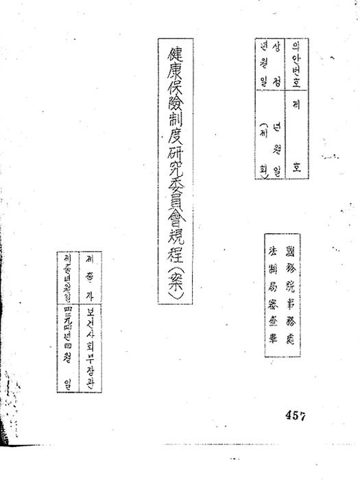 건강 보험제도 연구위원회 규정(안) (제51회)