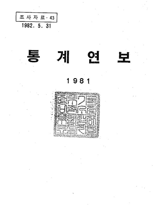 한국주택은행 통계연보 1981