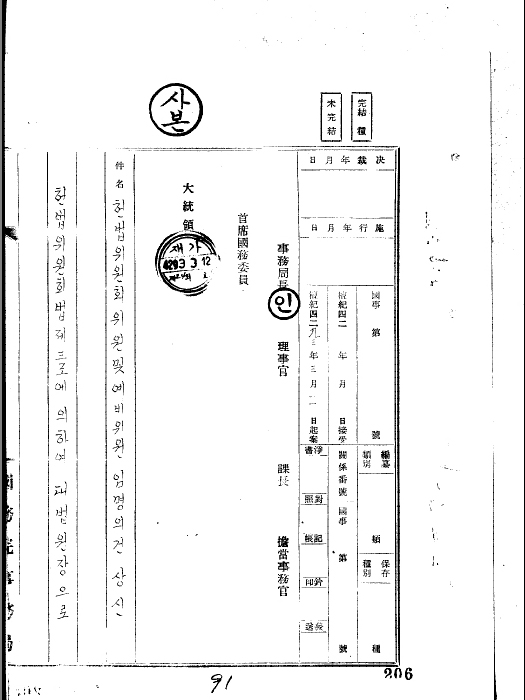 헌법 위원회 위원 및 예비위원 임명의 건 상신(조용순 외 8명)