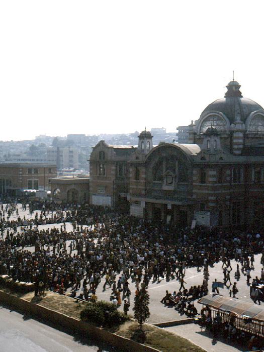 서울역추석귀성객전경