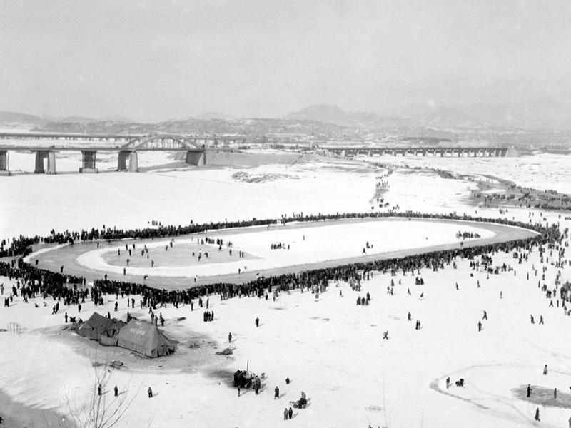 한강빙상대회장전경