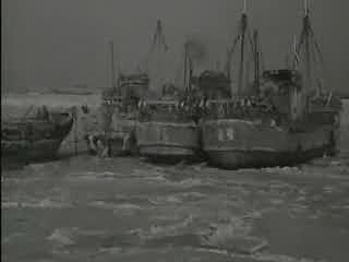 얼어붙은 인천항