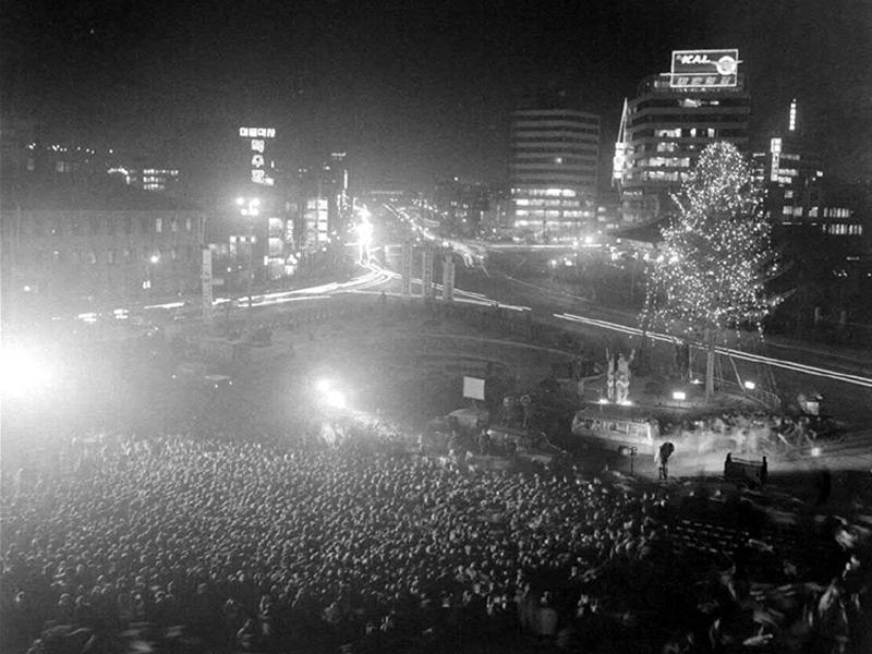 서울시청앞크리스마스트리점화식2