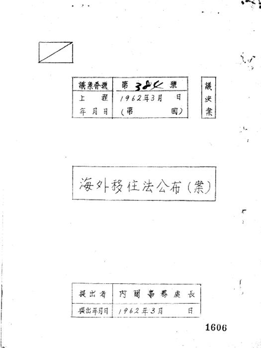 해외이주법공포(안)(제17회)