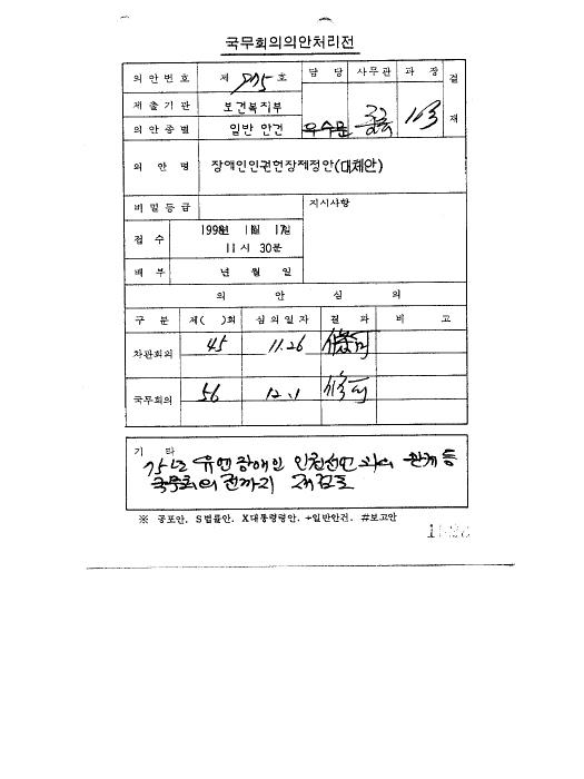 장애인 인권 헌장 제정안(대체안)